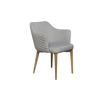 Carter Diamond Armchair in Cool Grey