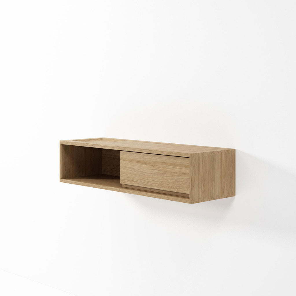 Karpenter Hanging Cabinet Niche and Drawer Oak