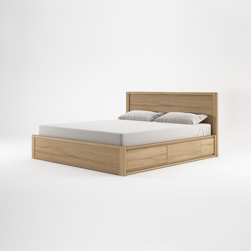 Karpenter Circa17 King Size Bed Oak