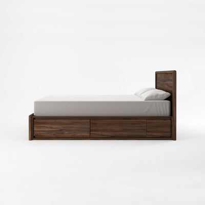 Karpenter Circa17 Queen Size Bed Walnut