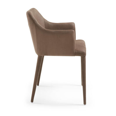 Danai Eco-Nobuck Armchair in Dark Brown