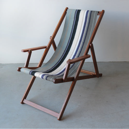Deckchair with Arms (Ironwood) - Acrylic Sling