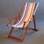 Deckchair with Arms - Ironwood Frame