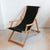 Deckchair with Arms (Teak) - Sunbrella Black