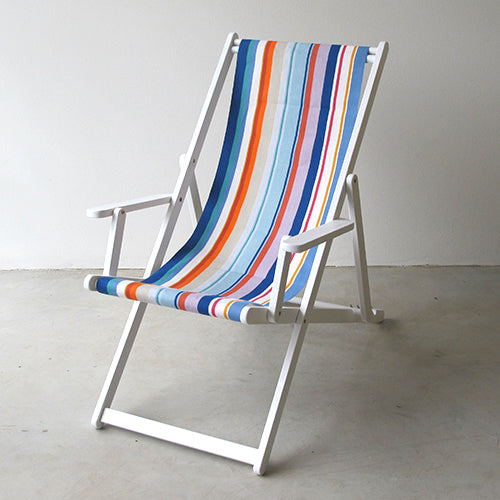 Deckchair with Arms (White) - Canet en Roussillion