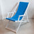 Deckchair with Arms (White) - Sunbrella Capri
