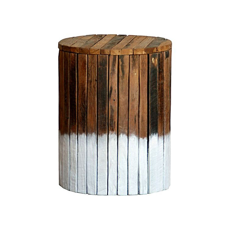 Drift Painted Round Stool