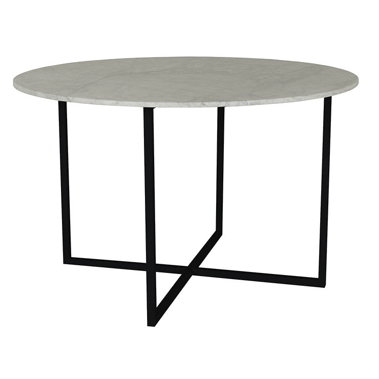 Elle Luxe Dining Table Black/White