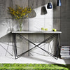 Globewest Elle Criss Cross Console in White/Black