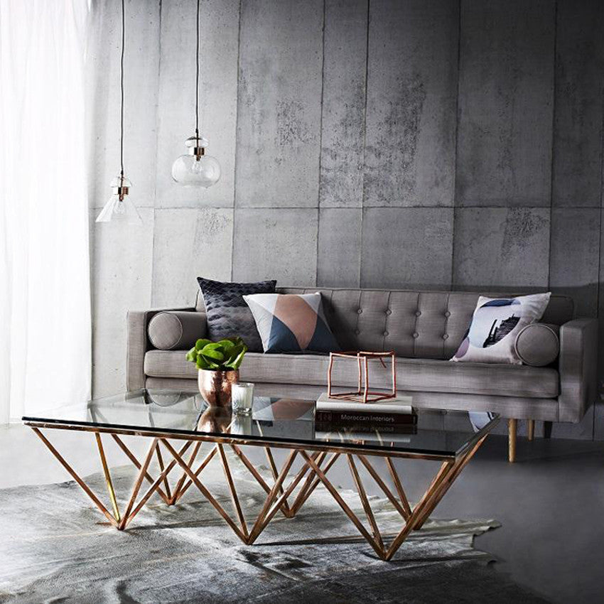 Industrial Coffee Table Melbourne: Elle Criss Cross Console