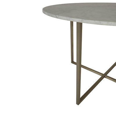 Elle Luxe Dining Table Brushed Gold