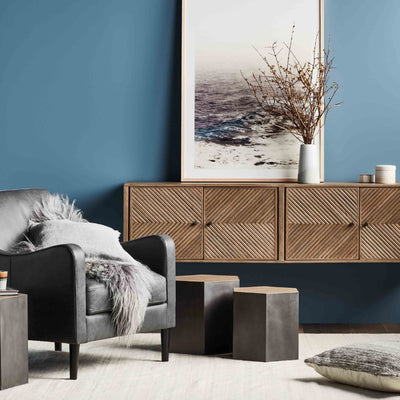 Finsbury Geo Sideboard in Grey Sand
