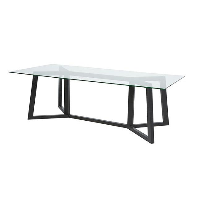 Geo Dining Table in Charcoal Mahogany