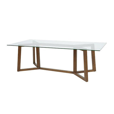 Geo Dining Table in Natural Teak