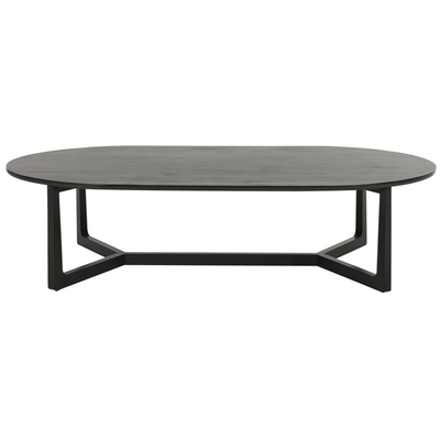 Geo Oval Coffee Table in Charcoal Mahogany