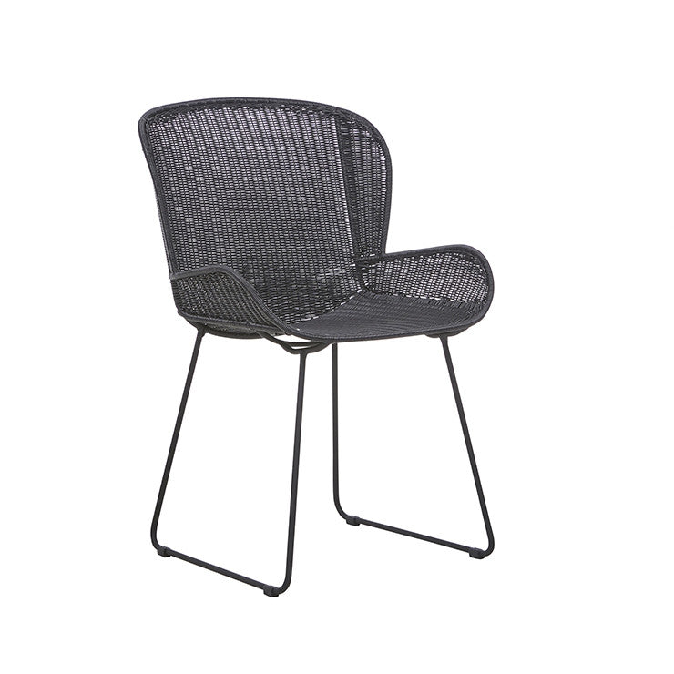 Granada Butterfly Closed Weave Dining Chair in Licorice