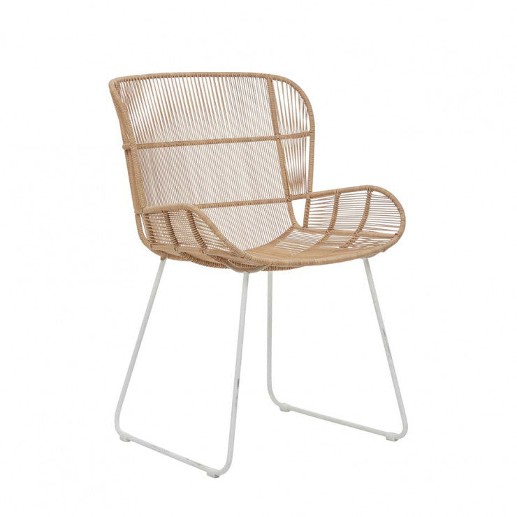 Granada Butterfly Dining Chair - Natural/White