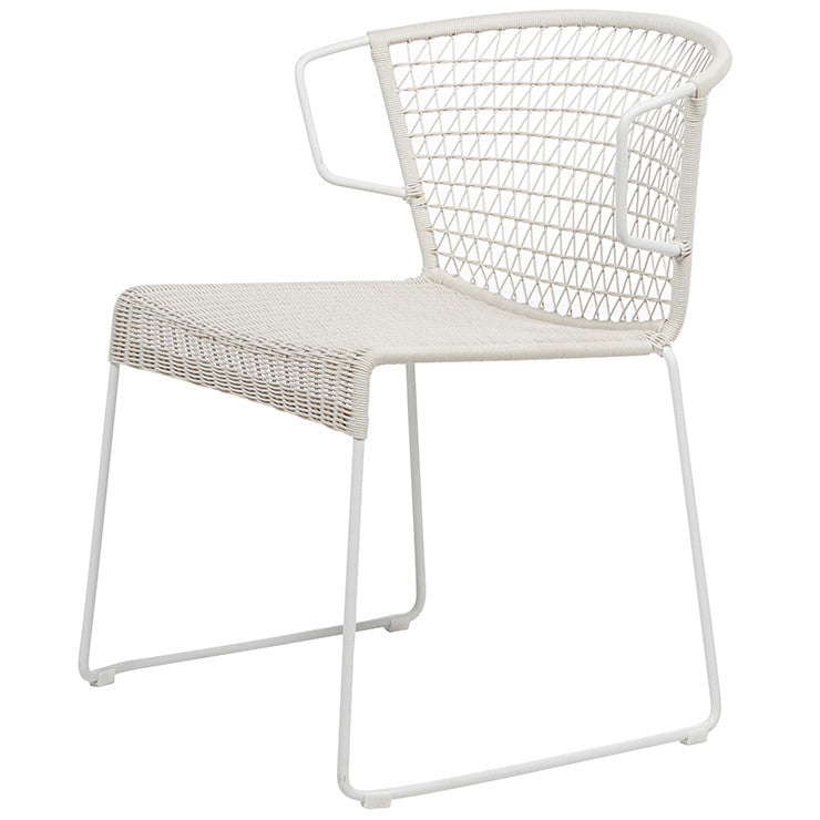 Granada Rhodes Dining Chair - Chalk/White