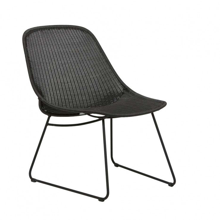 Granada Scoop Closed Weave Occasional Chair - Licorice/Lava