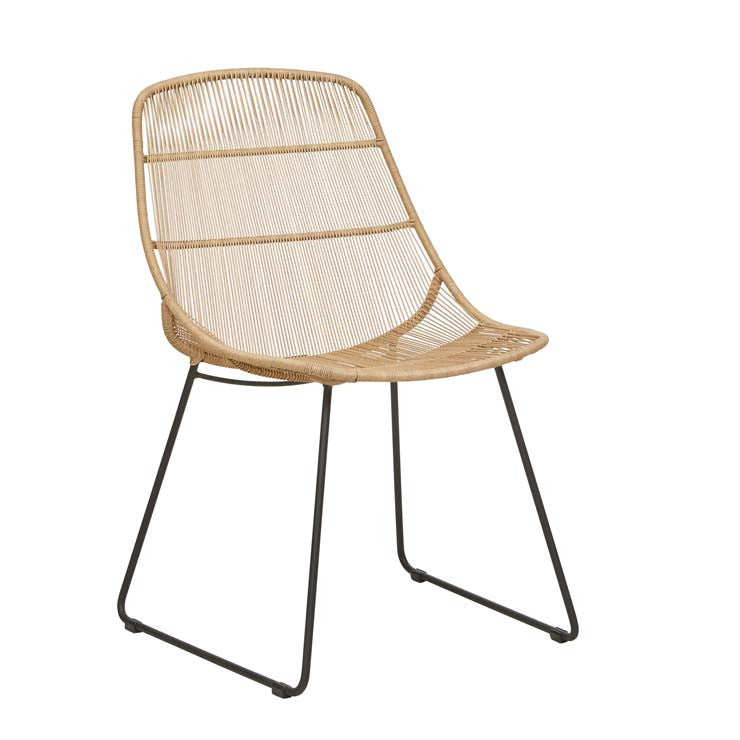 Granada Scoop Dining Chair - Natural/Licorice