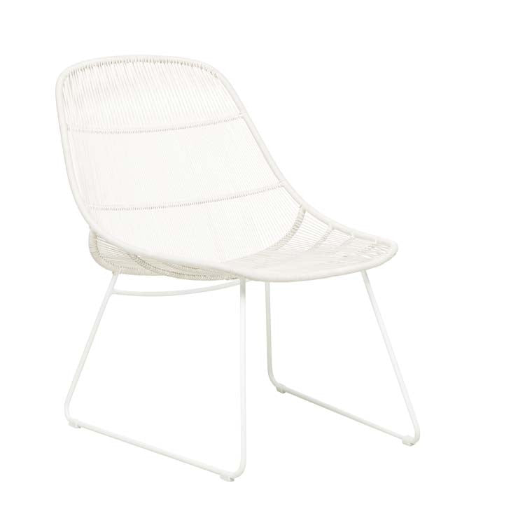 Granada Scoop Occasional Chair - Chalk/White
