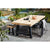 Granada Beach Dining Table - Aged Teak/Graphite