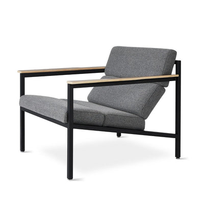 Gus Modern Halifax Chair - Varsity Charcoal/Black