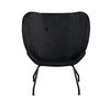 Halo Wingback Armchair in Black Velvet | Space to Create
