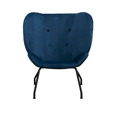 Halo Wingback Armchair in Blue Velvet | Space to Create