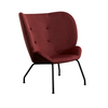 Halo Wingback Armchair in Merlot Velvet | Space to Create