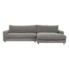 Hansen Right Chaise Sofa Set Weathered Grey