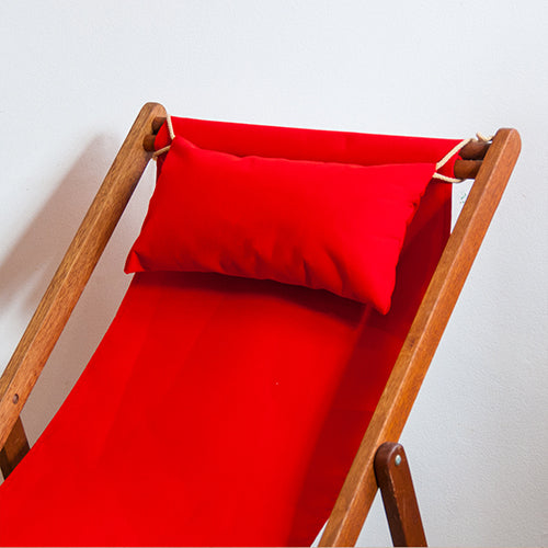 Deckchair Head Cushion - Sunbrella Logo Red