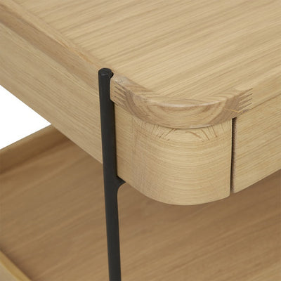 Humla Bedside Table in Light Oak