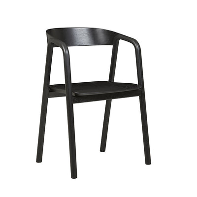 Inlay Armchair in Black