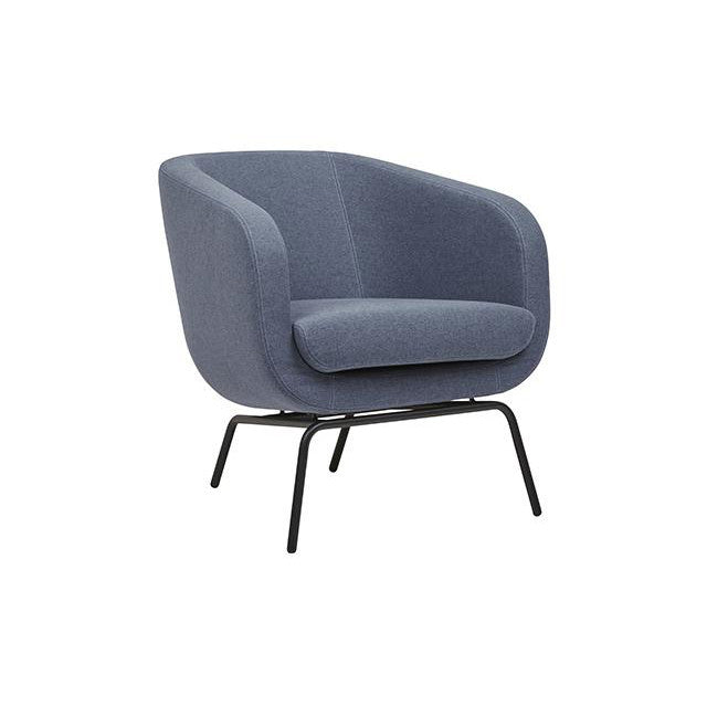 Juno Tub Metal Occasional Chair in Denim