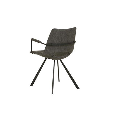 Lacey Armchair in Woven Charcoal
