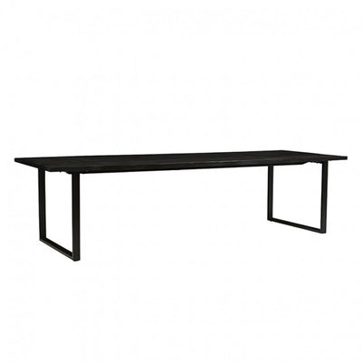Linea Sleigh Dining Table in Charcoal Mahogany