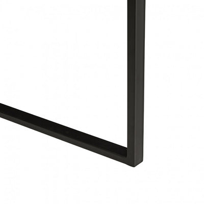 Linea Sleigh Dining Table black powdercoated base