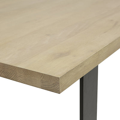 Linea Sleigh Dining Table in Natural Oak