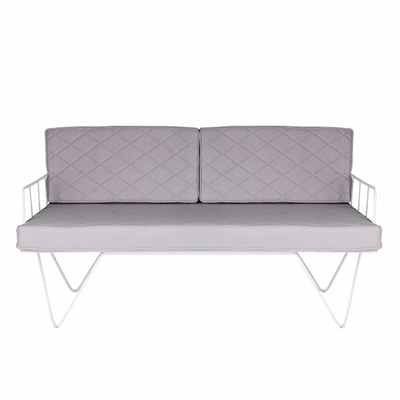 Loop Two Seater Sofa Light Grey