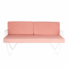 Loop Two Seater Sofa Coral Pink