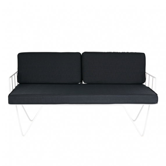 Loop Two Seater Sofa Outdoor Black