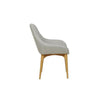 Marcus Timber Leg Dining Armchair in Cool Grey