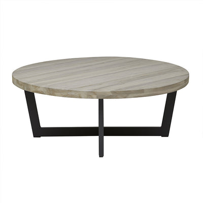 Globewest Marina Cross Coffee Table in Aged Teak/Graphite