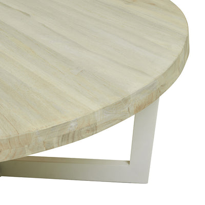 Globewest Marina Cross Coffee Table in Aged Teak/White