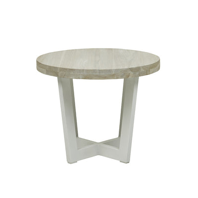 Globewest Marina Cross Side Table in White