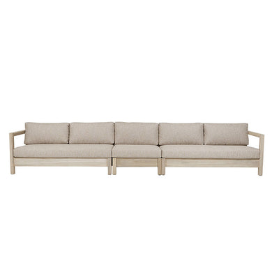 Marina Cube Left Arm Sofa in Aged Teak