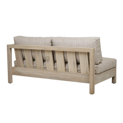 Marina Cube Right Arm Sofa in Aged Teak