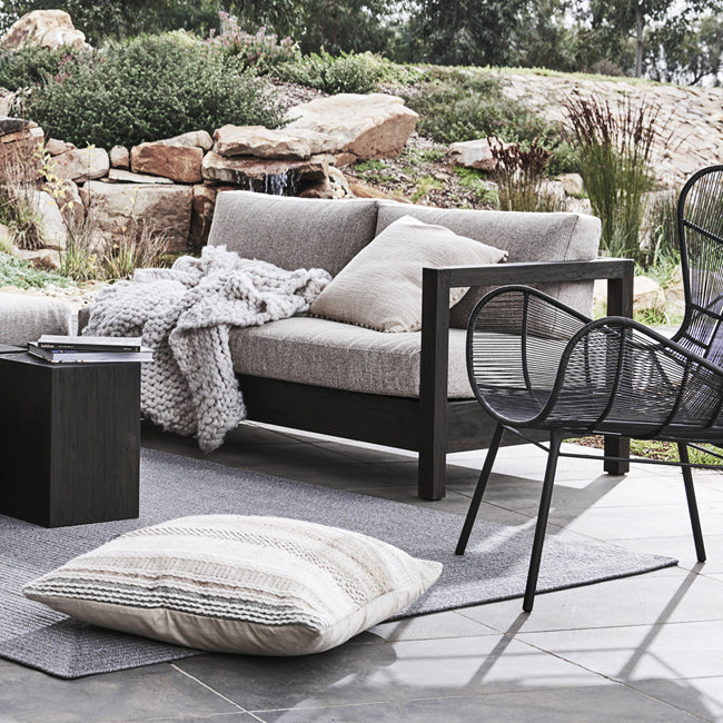 Marina Cube Right Arm Sofa in Ebony