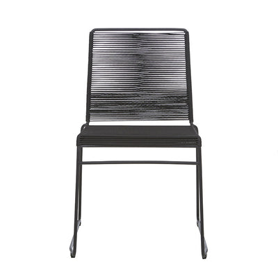 Globewest Marina Sleigh Dining Chair in Liquorice